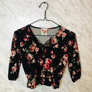 Other - 3/$30 Floral Top Girls Size 7